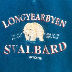 Svalbard Polar Bear Longyearbyen Norway szS Fleece